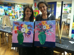 Erika and Kim Painting