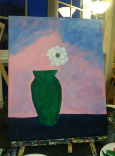 Flower and vase